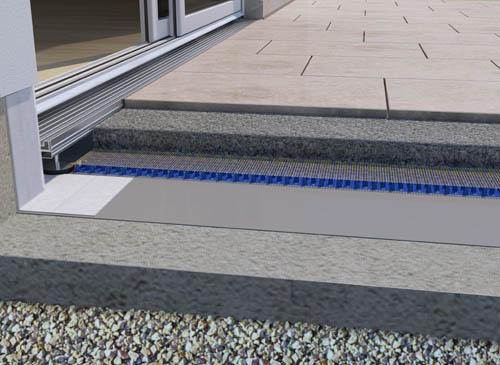 Fl chendrainage f r die verlegung auf drainm rtel - Balkon fliesen stein ...